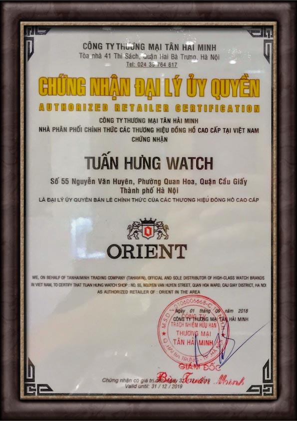 Chứng nhận Orient