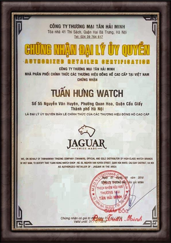 Chứng nhận Jaguar